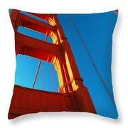Anchor Of The Golden Gate Throw Pillow