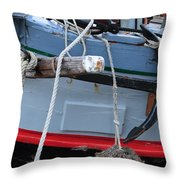 Anchor On An Old Wooden Sailing Ship Throw Pillow
