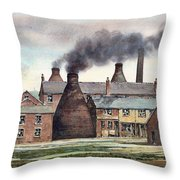 Anchor Road Pot Works Throw Pillow