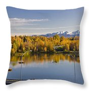 Anchorage And Westchester Pano Throw Pillow