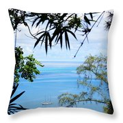 Anchorage In Paradise Throw Pillow