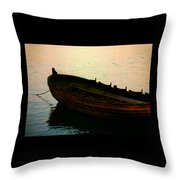 Anchored For The Day Throw Pillow