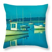 Anchored In Maine Throw Pillow