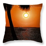 Anchored In Paradise Throw Pillow