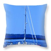 Anchored In The Bay Throw Pillow
