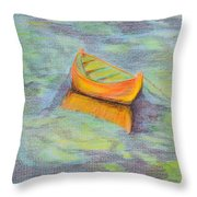 Anchored In The Shallows Throw Pillow
