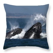 Anchovie Lunge Throw Pillow