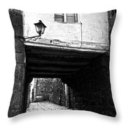 Ancient Alley In Tui Bw Throw Pillow