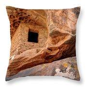 Ancient Anasazi Honeycomb Granary Ruin  Throw Pillow