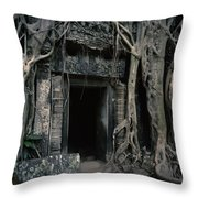 Ancient Angkor Cambodia Throw Pillow