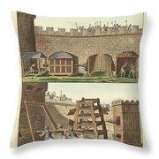 Ancient Besiegement Tools Throw Pillow