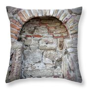 Ancient Bricked Up Window  Throw Pillow