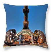 Ancient Cannon From Ww2 Throw Pillow