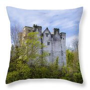 Ancient Castle Donegal Throw Pillow