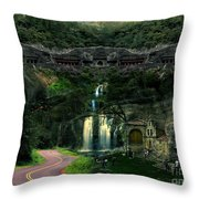Ancient Caves And Nature Throw Pillow