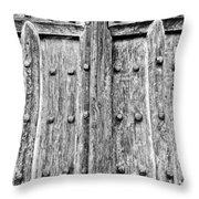 Ancient Church Door Throw Pillow