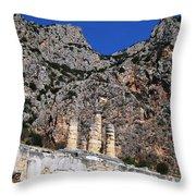 Ancient Delphi 9 Throw Pillow