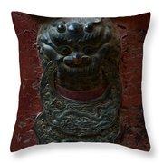 Ancient Door Knocker Throw Pillow