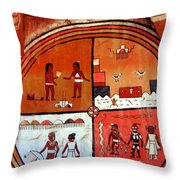 Ancient Drawings Throw Pillow
