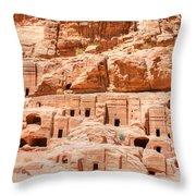 Ancient Dwellings At Petra Throw Pillow