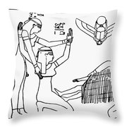 Ancient Egypt: Childbirth Throw Pillow
