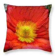 Ancient Flower 4 - Poppy Throw Pillow