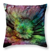 Ancient Flower Throw Pillow