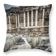 Ancient Fountain Throw Pillow