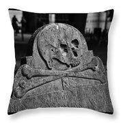 Ancient Gravestone Throw Pillow