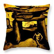 Ancient Grunge Throw Pillow