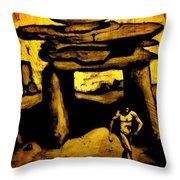 Ancient Grunge Throw Pillow