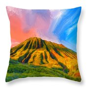 Ancient Hawaii Lava Flow Throw Pillow
