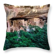 Ancient Houses Throw Pillow