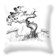 Ancient Loblolly Pine Ocracoke Nc 1970s Throw Pillow