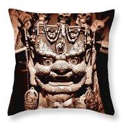 Ancient Mask Throw Pillow