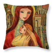 Ancient Mother And Son Throw Pillow