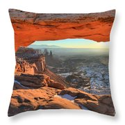Ancient Orange Throw Pillow