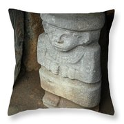 Ancient Pre-columbian Statue Throw Pillow
