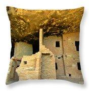Ancient Pueblo Dwelling Ruins Throw Pillow