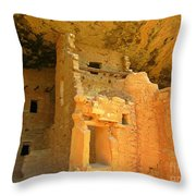 Ancient Pueblo Dwelling Ruins Two Throw Pillow
