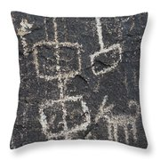 Ancient Rock Memo Throw Pillow