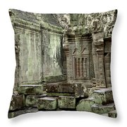 Ancient Ruins Cambodia Throw Pillow