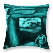 Ancient Seen Through The Time Machine Throw Pillow