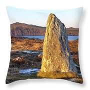 Ancient Standing Stones In County Kerry Ireland Throw Pillow by Mark E Tisdale