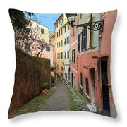 ancient street in Sori Throw Pillow