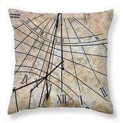 Ancient Sundial Throw Pillow