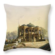 Ancient Temple At Hulwud, From Volume I Throw Pillow