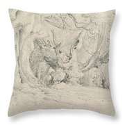 Ancient Trees Lullingstone Park Throw Pillow