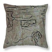 Ancient Wall Art Throw Pillow
