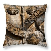 Ancient Wall With Hugo Throw Pillow